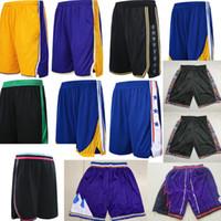 neue sportbekleidung großhandel-Mens 2019 neue Saison Basketball Shorts Wear Leichte atmungsaktive Bewegung Sportswear blau gelb rot schwarz Sommer Hosen Stickerei