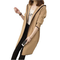 толстовки с капюшоном оптовых-La MaxZa Длинный открытый стежок пальто для женщин британский корейский свободные европейские ветровки балахон японский стиль осень пальто