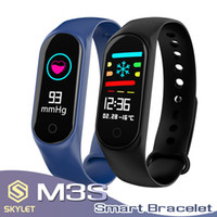 Wholesale waterproof camera watches for sale - Fitness Smart Bracelet for Xiaomi M3 Smart Watch IP67 Waterproof Wristband Heart Rate Sleeping Monitoring Pedometer for IOS and Android