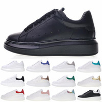 Wholesale flats wedding winter shoes for sale - With Box Luxury Womens Leather Platform Shoes Mens Running Designer Sneakers White Flat Casual Party Wedding Shoes Trainers Size