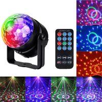 luzes de lavagem de parede verdes ao ar livre venda por atacado-Mini 7 cores 3 w dj bola de discoteca som ativado projetor a laser rgb efeito de iluminação de palco lâmpada de natal ktv música luz do partido-R29