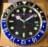 calendrier d'horloges modernes achat en gros de-Décor à la maison horloge murale design moderne de haute qualité marque nouvelle calendriers de visage lumineux en acier inoxydable FT-GM004