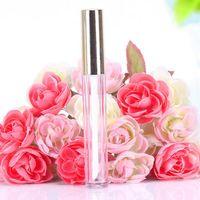 kozmetik tüp kutuları toptan satış-altın kap ile yeni parlak Şişe boş kabın ağız 250pcs 10ML Mini yuvarlak dudak boru kozmetik ambalaj
