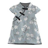 ingrosso ragazze vestiti midi-Vestiti delle ragazze Toddler Bambini Baby Girl Floral Dress Midi Casual Princess Party Dress Clothes Estate fino