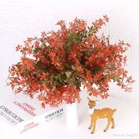 поддельный цветок лист оптовых-Искусственные растения Maple Leaf Главная партия Декор Свадебный Поддельный цветок выполнен из пластика Показать растения и цветы