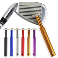 Wholesale Golf Club Grooving Sharpening Tool Golf Club Sharpener Head Strong Wedge Alloy Wedge Sharpening Cut colors