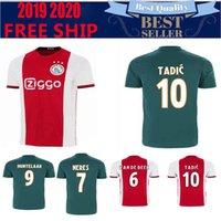 ingrosso maglie a maglia-CH patch versione Ajax casa rosso bianco Soccer Jerseys 19/20 Portiere uniforme 20 # 10 TADIC # 21 DE JONG # 4 DE LIGT # 22 ZIYEC uniforme da calcio