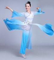şemsiye kostümleri toptan satış-Yeni klasik dans kostümleri kadın Çin rüzgar zarif modern dans kostüm şemsiye kollu yetişkin