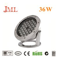 ingrosso proiettori di natale-JML Outdoor Floodlights 12V 36W impermeabile IP68 rosso blu bianco bianco caldo luci subacquee luci natalizie