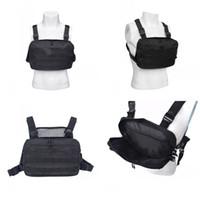 Wholesale red vest body for sale - Group buy Waterproof Tactical Vest Knapsack D Oxford Cloth Chest Rig Bag Anti Wear Sport Outdoor Bags Men Black Color bs E1