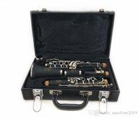 17 schlüssel klarinette großhandel-Heiße Qualitätsmarke Clarinet 17 Schlüssel B Clarinet Silber überzogene Schlüssel clarinete Freies Verschiffen