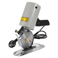 máquinas de corte portátiles al por mayor-TY-90B Tijeras eléctricas de alta precisión Portátil Bajo nivel de ruido Paño ligero Cortador de tela Máquina de corte redondo