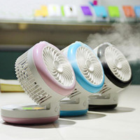 agua pulverizada con aire al por mayor-Nuevo mini agua portátil Mist Spray Humidificación usb Ventilador para aire más fresco Humidificador Enfriador ventiladores para uso en la oficina en casa de viaje
