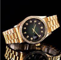 relógio de quartzo quartzo venda por atacado-Diamante automático crown watch top Famosa marca esportes das mulheres relógio de ouro 3A qualidade função de quartzo posicionamento preciso relógio de quartzo