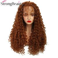 peluca rizada larga y rizada al por mayor-Largo de encaje sintético frente peluca de pelo rizado pelucas naturales pelucas de las mujeres luz castaño / marrón / color mezclado pelucas