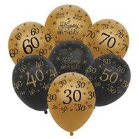 ingrosso numeri di compleanno-Palloncini trentesimo palloncini QIFU Palloncini quarantesimo palloncini compleanno 50 ° Compleanno numero 60 ° Decorazioni per feste di compleanno
