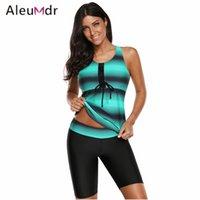 4f6383e755 wholesale 2018 Swimwear Women Tankinis set Retro Print Racerback Two Pieces  Swim suit New LC410663 Costumi Da Bagno