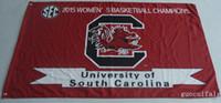 latón sur al por mayor-Universidad de Carolina del Sur Gamecocks Bandera NCAA productos de venta caliente 3X5FT 150X90CM Banner latón metal agujeros