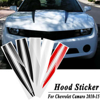 ingrosso adesivo a ventaglio-Motore Bonnet Hood Trunk Stripe Trim Sticker Line Vent Panel Decal Sticker per Chevrolet Camaro 2010-2015