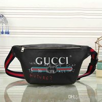 a245861eafdb Wholesale Top Quality Women Leather Waist Bag Brand Designer Belt Bag Men  Fanny Pack Small Graffiti Belly Bags Waist Pack Pouch Bag
