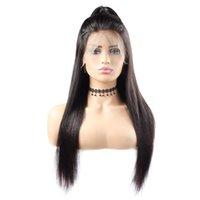 bonés de renda completos para perucas venda por atacado-10A Onda Do Corpo Perucas 360 full lace perucas de cabelo humano 10