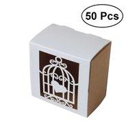 ingrosso scatole di caramelle per matrimoni-50pcs Love Cage Candy Box Delicato Hollow intagliato stile cassetto Design Paper Favor Box regalo Candy per i partiti Matrimoni