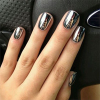 Wholesale nails for sale - Group buy Women Mirror Powder Effect Chrome Nails Pigment Gel Polish DIY Paznokcie Ongles Materiel Holographic Nail Glitter New