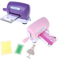 machine à couper les cartes achat en gros de-Bricolage en relief Scrapbooking Cutter Dies Machine de papier en papier faisant l'artisanat outil Die-cut violet rose Q190528