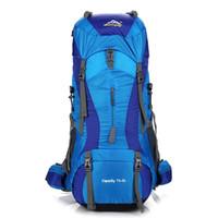 75l наружная сумка оптовых-75L Спорт рюкзак горный туризм сумка кемпинг Bagpack открытый дорожные сумки мужчины водонепроницаемый сумки Сумка женщины рюкзак Bolsa #109011