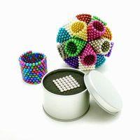cubo magnetico 216 al por mayor-Goood4store bola colorida 216 PC 5 mm de neodimio neo perlas magnéticas bolas cubo mágico imán de descompresión del regalo de los niños Neokub pelotas de juguete