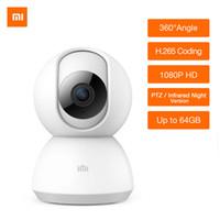 cctv eğim kamerası toptan satış-Xiaomi Mijia 1080 P HD Akıllı IP Kamera 360 Video CCTV WiFi Pan-tilt Gece Görüş Kamerası Güvenlik Monitör IP KAMETI Güncelleme Sürümü