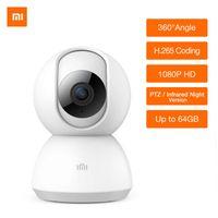 ingrosso aggiornare i video-Xiaomi Mijia 1080P HD Smart IP Camera 360 Video CCTV WiFi Pan-tilt Night Vision Webcam Security Monitor IP CAM Versione aggiornata