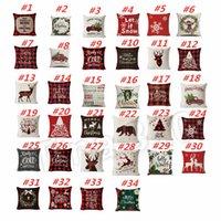 otomotiv süslemeleri toptan satış-hot34 tarzı Kar geyik Noel ağacı Noel Yastık Kılıfı Yastık Kapak Kanepe Yastık Kapak Otomotiv Koltuk Noel Dekorasyon T2I5608