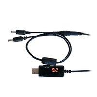 convertidor de potencia de voltaje al por mayor-Usb Boost Cable 5V Step Up hasta 9V 12V Dc Voltage Converter 1A Step-Up Volt Transformador Dc Regulador de potencia con interruptor y Led V