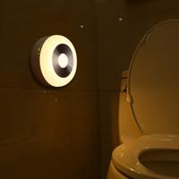pil led banyo lambası toptan satış-Akıllı LED Sensörü Kontrol Indüksiyon Lamba Enerji Tasarrufu Pil Kumandalı Duvar Gece Lambası Işık Banyo Yatak Odası Merdiven Için Kızılötesi Lamba