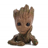 ingrosso piantagioni di alberi-Groot Action Figures Guardiani della Galassia Flowerpot Baby Cute Model Toy Pen Pot 6,3 pollici Flower Pot Fioriera Action Figures Tree Man Tavoli