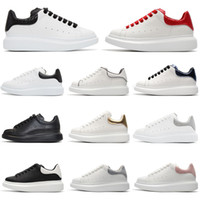 Wholesale mens gray casual shoes for sale - Group buy Designer Casual Shoes Platform M reflective fashion luxury men women white black gray leather sneakers Chaussures mens trainers