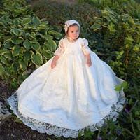 Vestidos blancos elegantes para bautizo