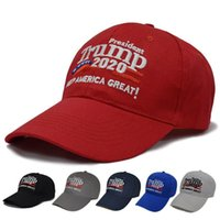 Wholesale trump hat Embroidery Cotton Adjustable Breathable Hat Trump Keep America Great Baseball Cap Outdoor Trump Unisex Caps Party Mask DHA18