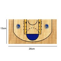 Wholesale building bricks base plate for sale - Group buy 13 cm Basketball Court Base Plate Building Block Brick Toy for Boy Compatible with Figure