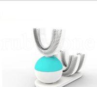 Wholesale intelligent shapes online - Electric Toothbrush Auto Degree U Shape Electric Toothbrush Rechargeable Sonic Intelligent Mouth Cleaner Clean Massage LJJK1196