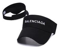 bayanlar plaj vizörleri toptan satış-Açık Kadın Visor Güneş Şapka Kadın Güneş Kremi Yaz Spor Tenis Kap Moda Lady Seyahat Plaj Boş Üst Şapka Erkekler Yeni Tasarımcı bnib şapka