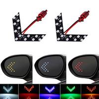ledli dönen oklar toptan satış-2pcs / lot 14 SMD LED Araç Dönüş Sinyal Işık Ok Paneli İçin Araç Dikiz Aynası Gösterge Araç LED Dikiz Aynası Işık Aksesuarları HHA118