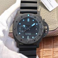 relógio automático de 47mm venda por atacado-2019 novos relógios de luxo mens Luminous watch 47mm pulseira de borracha à prova d 'água negócio automático movimento mecânico relógios relógio do esporte