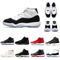 Hot selling XI 11s Concord 45 Platinum Tint Basketball Shoes Prom Night 11 Gym Red Cap and Gown PRM Heiress Bred Women men sports Sneakers