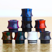 Wholesale pen stripe for sale - Group buy Drip Tip Stripe Wide Bore Mouthpieces Epoxy Resin tips for e cigarette vape pen Atomizer Tank cartridges DHL Free