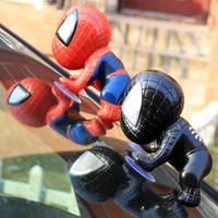 brinquedos de sucção para homens venda por atacado-Venom Homem Aranha Decoração Do Carro Boneca de Plástico Eco Friendly Anti Desgaste Do Vaso de Brinquedo Criativo Copo Não Slip 1 75az I1
