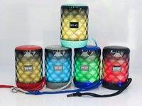 drahtlose mini-hände kostenlos telefon großhandel-5W tragbare Mini Bluetooth Lautsprecher Wireless Hands Free LED Lautsprecher TF USB FM Sound Musik für iPhone X Samsung Handy HY-47