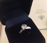 Wholesale 925 sterling silver jewelry sets heart for sale - Group buy Have stamp and box karat diamond rings anelli moissanite sterling silver couple women marry wedding sets engagement jewelry lovers