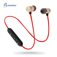 bluetooth kulaklıklar mobil toptan satış-Bas Bluetooth Kulaklık Kablosuz Kulaklık Mic Ile Manyetik kulaklık bluetooh Kulaklık Için Cep Telefonu bluetooth kulakl